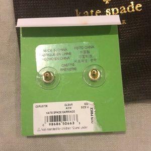 kate spade Jewelry - Kate Spade Clear Gem Stud Earrings